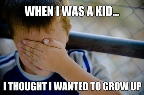 """True. . I tints A KID... I THOUGHT I TO show """""""