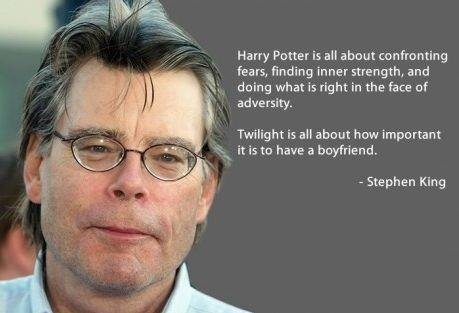 true. . Harry Potter is an about can framing fears, inner strength, and doing what is right in the he of adversity Twilight is ait aha m how important ix it is