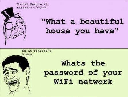 """True. . s house house gnu have"""" Whats the password of yum: Wifi netwerk"""