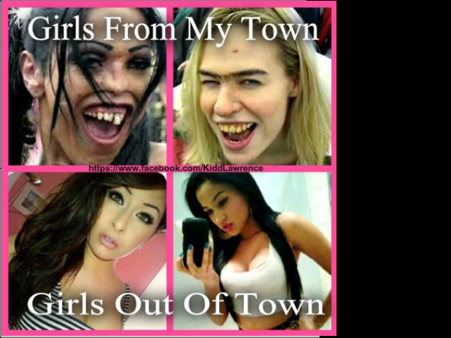 True. .. Both the girls on the bottom are not attractive in the least bit.