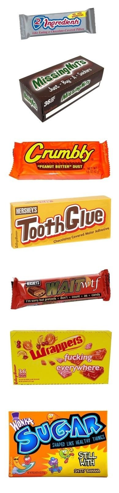 """true identity of candy. . Mather UT BUTTER"""" DUST. The bananas were my favorite... :'("""