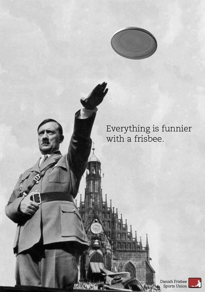 True. . Everything is funnier with a frisbee. Someone make a 911 Frisbee gif.