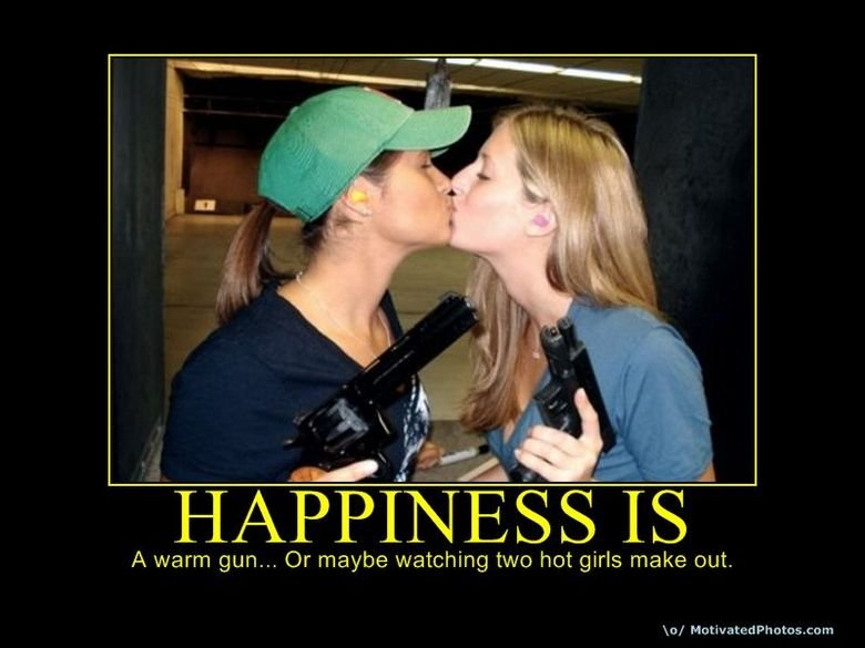True Happiness. . A warm gun... Or maybe watching two hot girls make out, Raf Ma titrated. wtf is hanging in the background. i mean what is that. a vampire spawn or something. like wtf