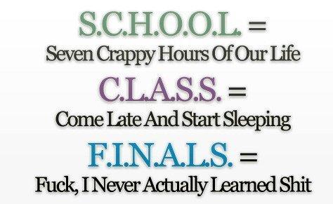 true meaning of school. .
