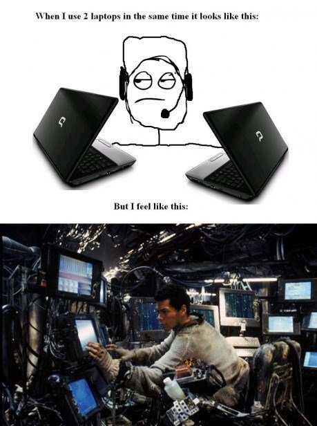 true. . when I use I laptops In the same than It tmw. like this: