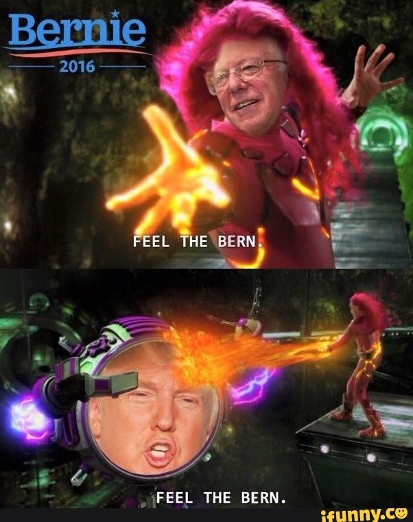 Trump Vs Bernie. . THE BERN.. God I love clickbait.