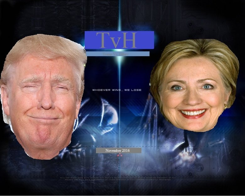 Trump Vs Hillary. Whoever wins.... we lose.. WINS we LUBE iia. A sad excuse for a human being who says whatever is necessary to gain votes and further the establishment, regardless of the concerns of constituents VS a boist
