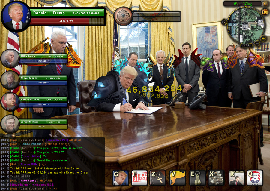 "trump WoW photoshop. . Wren 'Wilt; 1337/ 1776 alre Bananon IWW, 2. LEFT] C. hit TPP far 1. 932. 334 damage with Pen Swipe l:"": ""if"", You hit ' lli,. 834, 234 da"