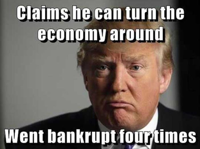 Trump'd. .. He went bankrupt with 4 companies affiliated himself so he could make through a loophole. He went bankrupt on purpose with those companies