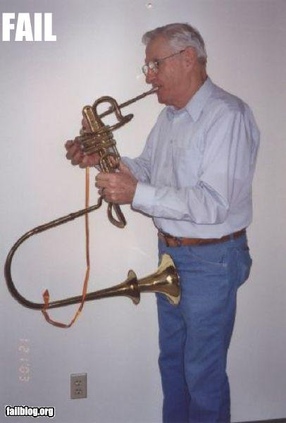Trumpets. You're doing it wrong.. Lol got this from failblog, not mine... No, Its a win. First man on earth able to suck his own dick.
