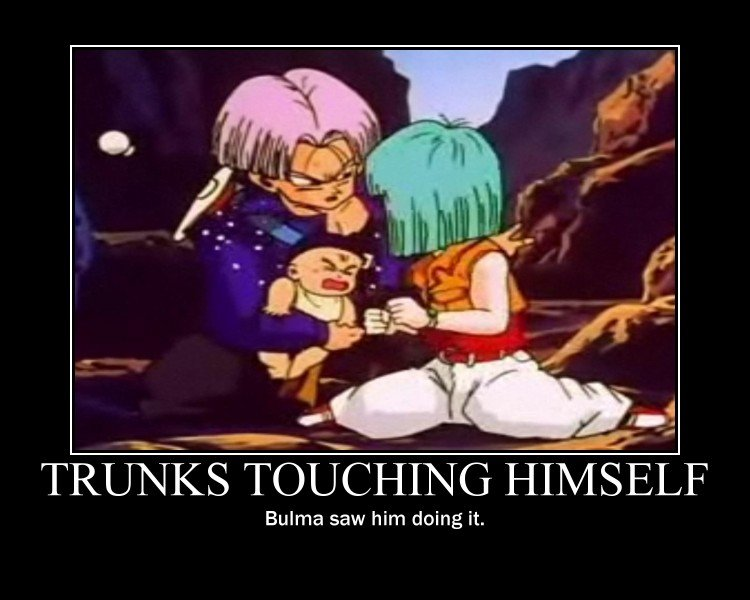 Trunks Touching Himself. It's OC.. Emma saw him doing it.. Touching himself in a sexual manner... Autophilia?