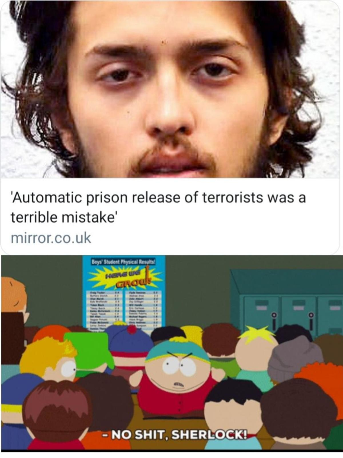 truuu 😂😂😂. .. The UK is releasing terrorists from prisons? Whats next? Letting the abusers of 1400+ children walk free? Oh.... wait.....