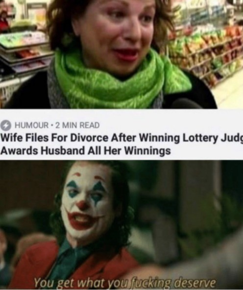 truuu 😂😂😂. .. For context, she didn't disclose the winnings in the divorce papers, which is very, very illegal.