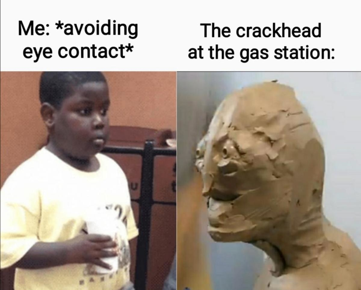 truuu 😂😂😂. .. When you think you're safe in the gas station bathroom