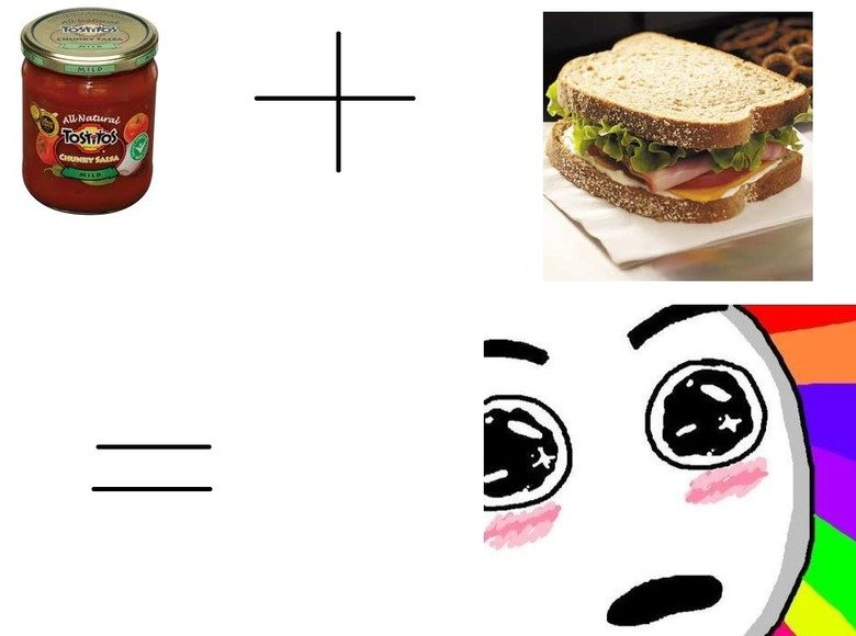 TRY IT. I love salsa on sammiches.....