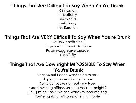 Try it. . Things That Are Difficult To Say When You' re Drunk Cinnomon andu divid Preliminary Proliferation Things That Are VERY Difficult To Say When You' re D