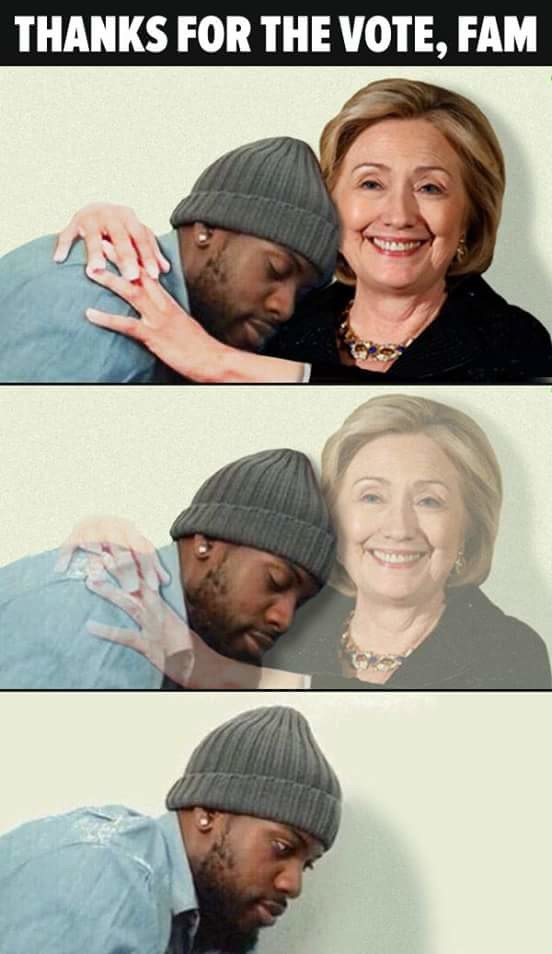 T-thanks Hillary. Inb4 political storm... HIllary confirmed to be the father of millions of black americans.
