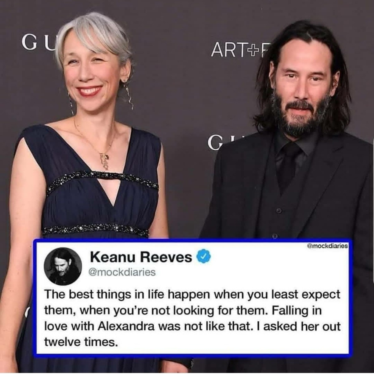 twelve times. .. This bitch turned Keanu Reeves down 11 times Who does she think she is snubbing The Chosen One like thatComment edited at .