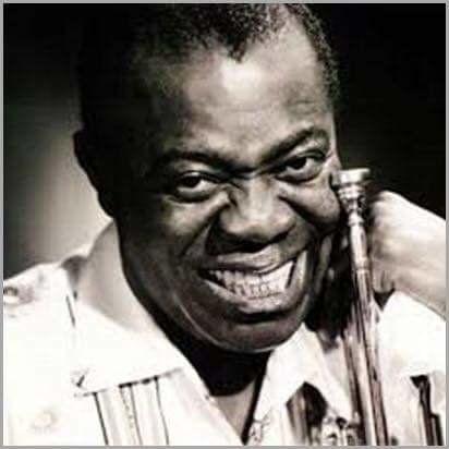 """Twenty minutes into """"Jazz and Chill"""". And he gives you this look.. Aww Yiss Mutha' Louis Armstrong, love all of his music great"""