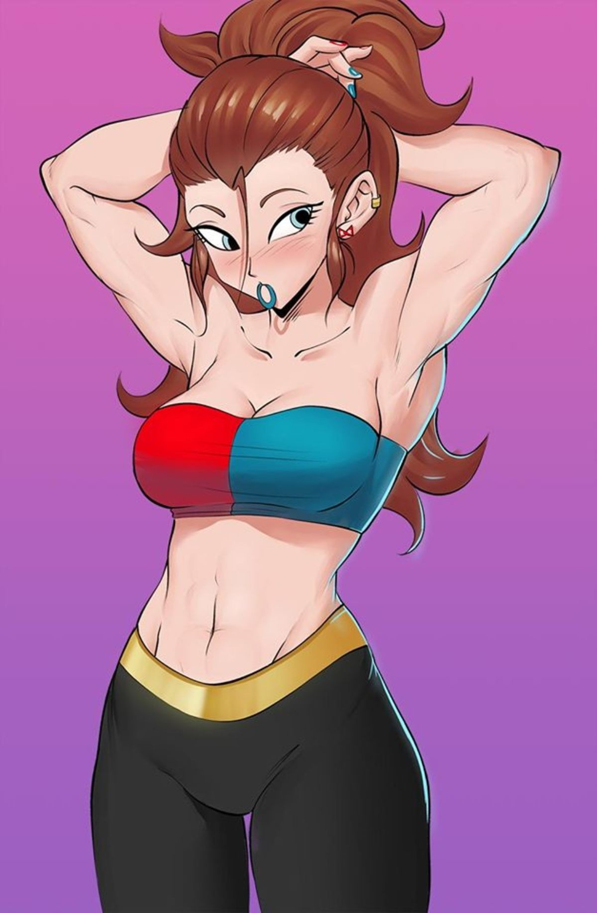 Twenty One. .. It's amazing that with 18 being the hottest DBZ and DBS girl that second place goes to a look a like android.