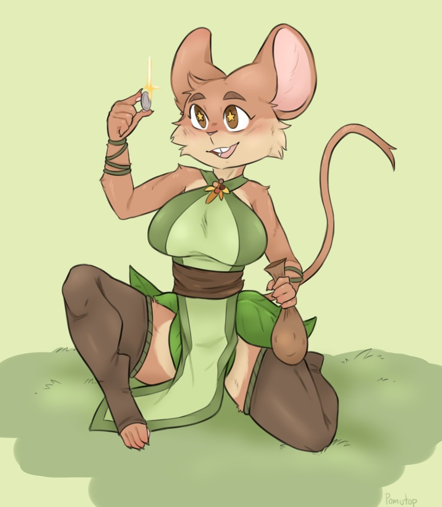Twig found something shiny. Twig the mouse druid isn't one for being materialistic, though that doesn't stop her from collecting shiny things. One time she decl