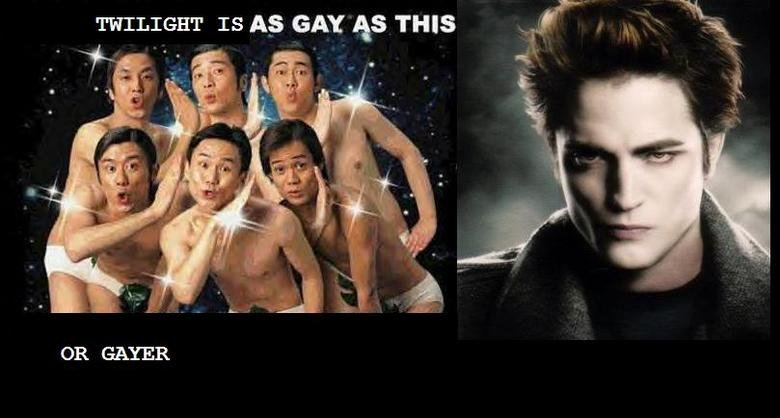 TWIIGHT FANS. agree. TWILIGHT TS its GAY as THIS OR GAYER. ownez btw: (i usually dont say my captcha but...) captcha: annal :P