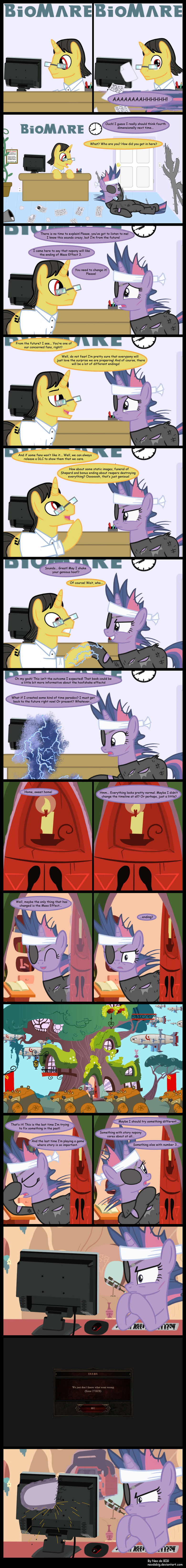 Twilight effect. If you've played mass effect three or diablo 3 and you like ponies, its all in one comic for your viewing pleasure..