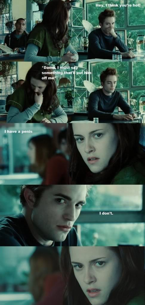 Twilight. in celebration for the end of the worst series ever.. It's been so long since this has been posted. Oh my god.