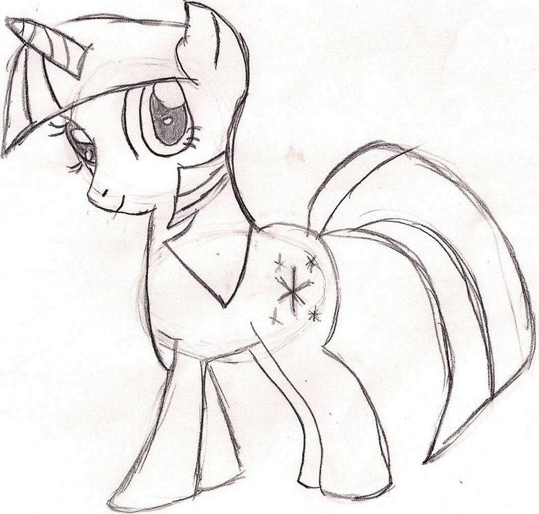 Twilight Sparkle drawing. this is one of many pictures my sister drew.