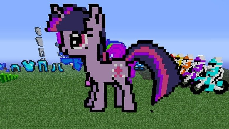 Twilight Sparkle Minecraft. Same thing as the other two, and this time, my favorite pony by the way, Twilight Sparkle. Yadda, yadda, yadda, same things in the b