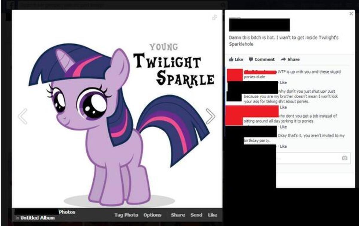 "Twilight sparklehole. . Like . Comment "" Share 1 'Y"" t : gtst shut utr? Cust are -u brainy acres"" 1' man I ' t .POE Lire the bke H. -d Alarm"