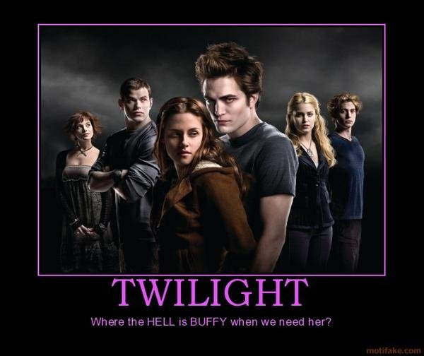 Twilight Death. or Blade, or some other type of hunter :/. TWILIGHT Ill/ here the HELL is BUFFY wheal we Iizeta her?