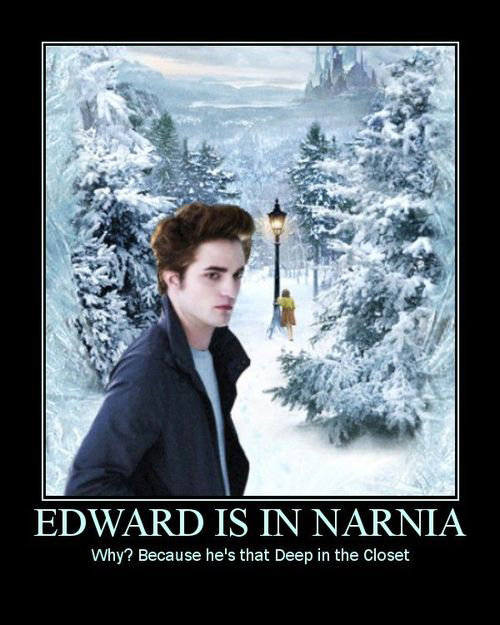 Twilight not old enough yet. . Why? Because he/ s that Deep in the Closet
