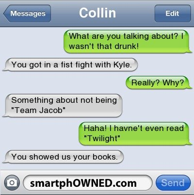 twilight fag. . Collin You showed us your books. ,. every body point and laugh