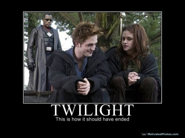 Twilight ending. this would be so awesome.... TWILIGHT Thu; is how It s: h{; have, ended. no...how it should have began!