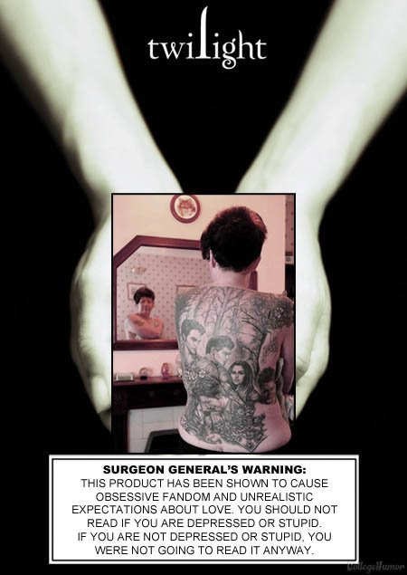 """Twilight Cover. (insert description here). SURGEON '? '. WARNING: IE ' FWD LIBERALISTIC READ IF ilime ARE DEF-"""" RESSED DR STUPID. IF """"EDD ARE MDT DEPRESSED DR S"""