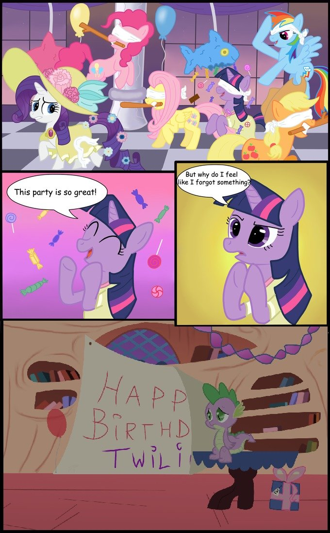 Twilights birthday. Found and edited, not made.. i don't even watch MLP and this made me sad