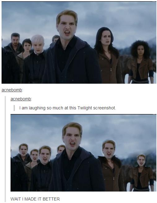 """Twiligjht. My tumblr: . I an so ' at this Twilight Vitim' hfftu I  """" u' IT BETTER"""