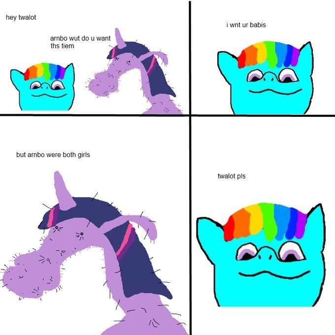TWILIT PLS. . hay . -mint i WM Dania arnhg wut do u want ths mam but were both girls. ponies. I hope dolan ruins them to