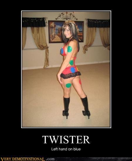 Twister. How much more do you now love twister?. Left hand can blue. on bluawaffle