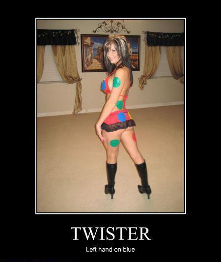 Twister. . Left hand can blue