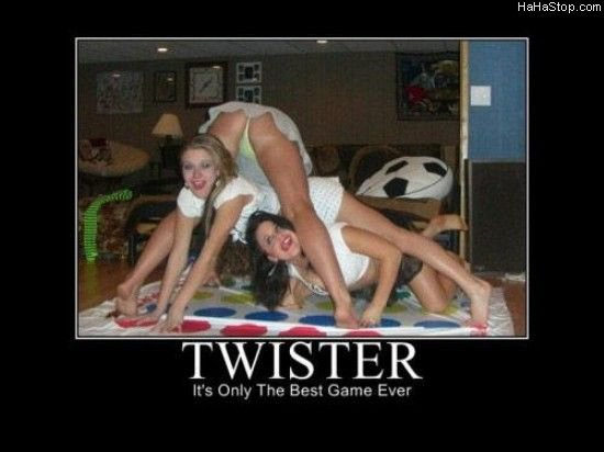 Twister. Why i live.. Halli . corn ts Only The Best Game Ever. i was at a band lock in few days ago and they had this game. i swear, one of the girls had her ass in some guys face and 2 others had their(used correctly?) tit