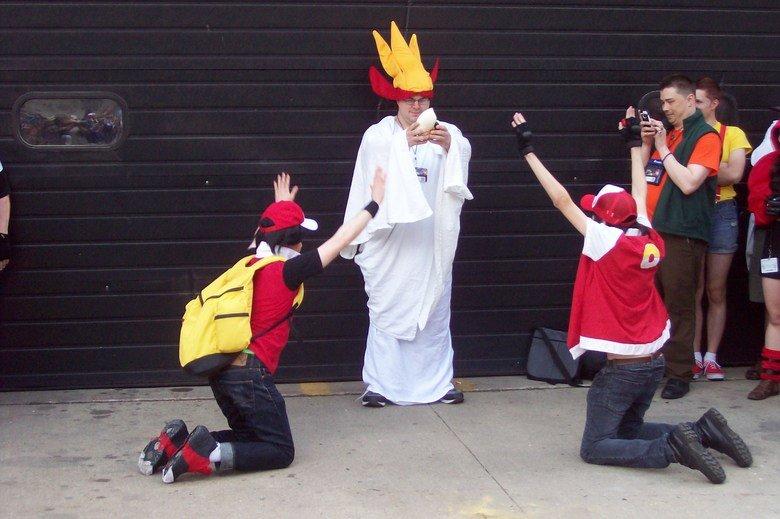 Twitch cosplay!. At the Acen 2014 Pokemon photoshoot.. ANARCHY