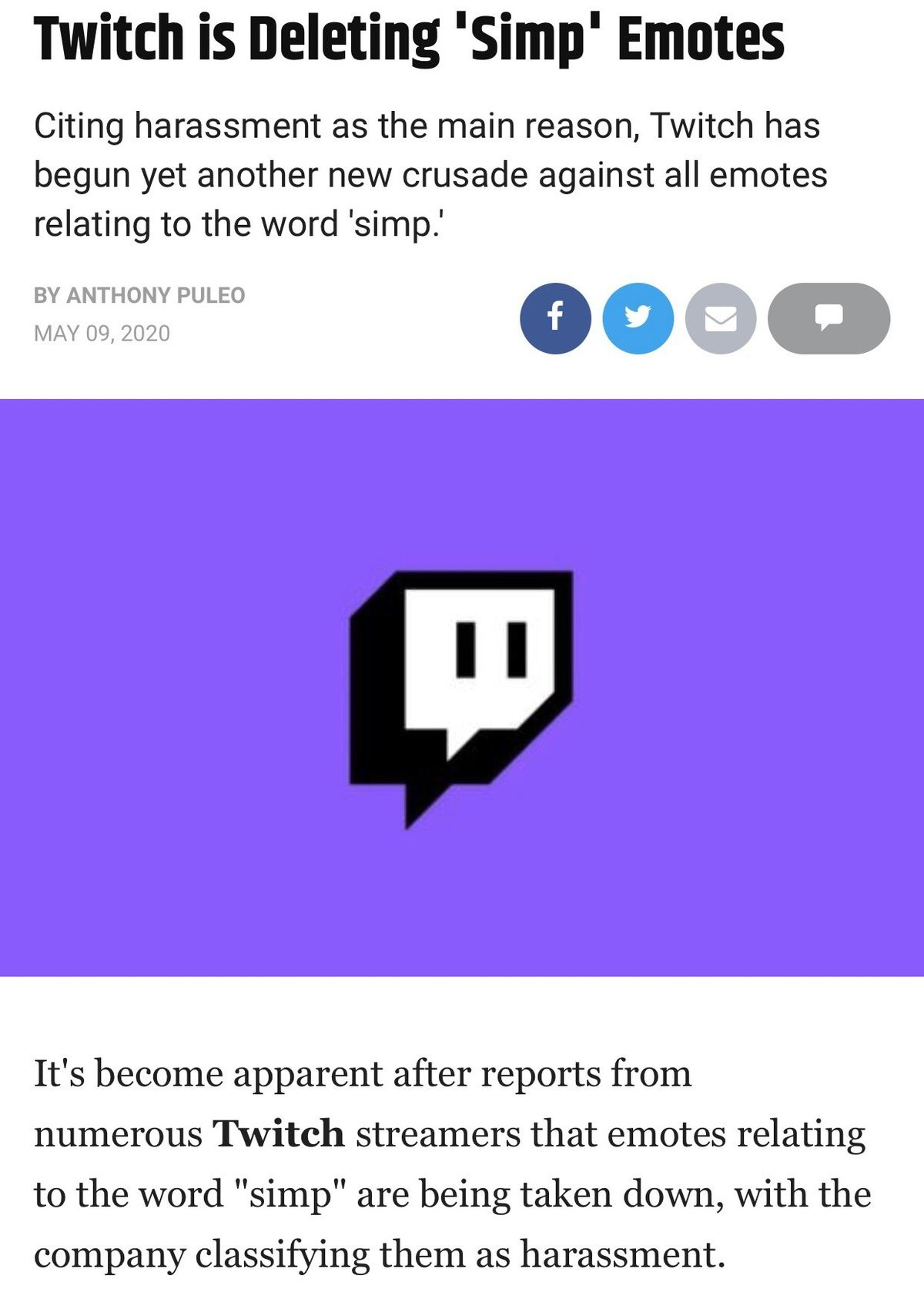 twitch fears simps. .. What are simp emotes?