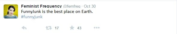Twitter. . .. Feminist ( - Oct 30 Funnyfunk is the best place on Earth. lefunnyjunk IT 43. Jesus Christ how terrifying