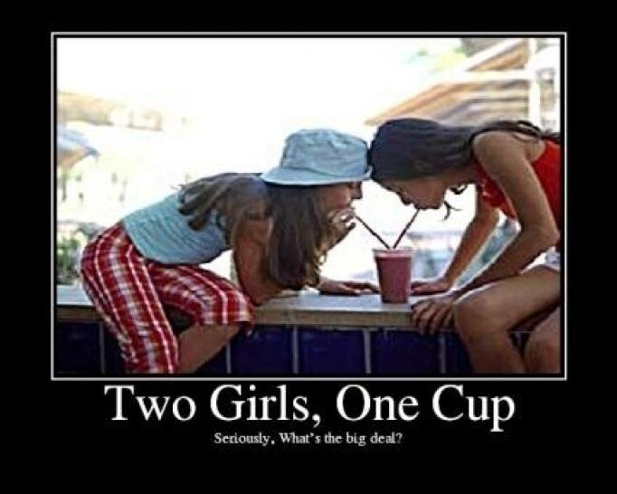 Two Girls one Cup. . Two Girls, One Cup. this isn't how i remember it
