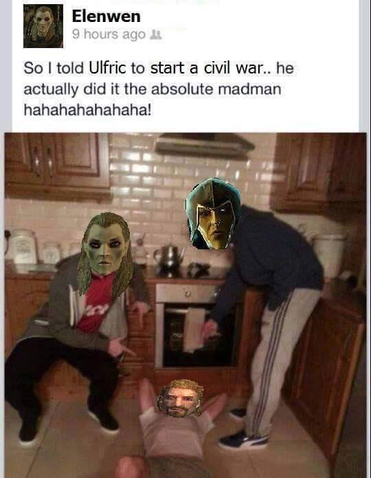 """Ulfric Is A Worse Version of Putin. Deplete the empires resources, I'm sure nothing bad will happen.. Elenwen St: I talc! Ulfric to start 'W: civil war"""" he actu"""