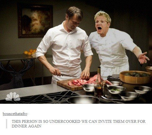 Undercooked. . mate,