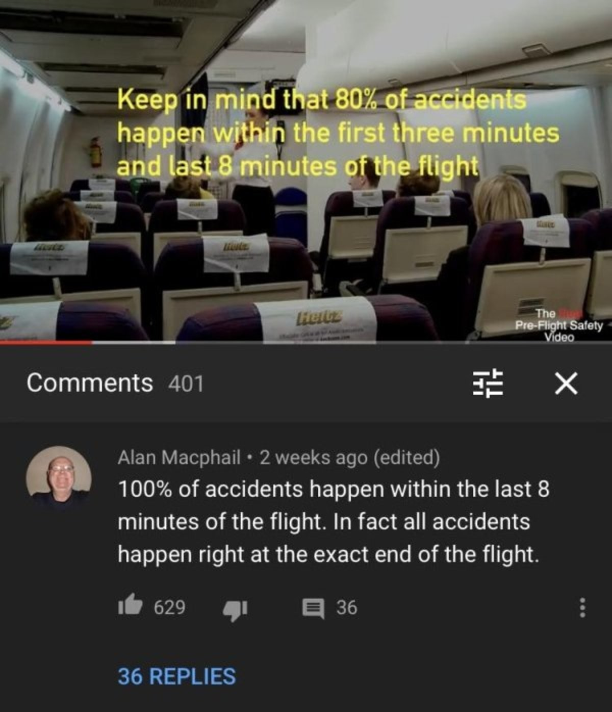 """undersea polite Tiger. .. I get the joke, but what about birdstrike? the plane is in the air """"flying with style"""" until it crashes"""