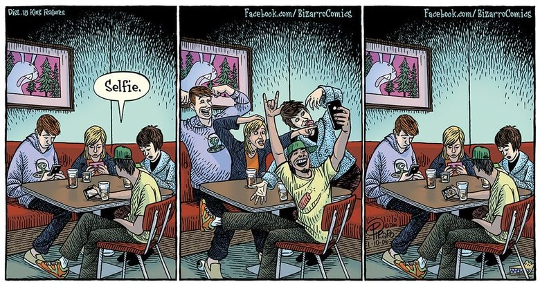 (untitled). .. This seems to be a running theme with these newspaper styled comics. Strawmans about the youth being unable to function without technology.